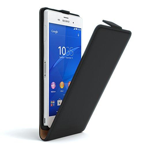 Sony Xperia T2 Ultra Hülle Flip Cover zum Aufklappen I von EAZY CASE I Handyhülle aufklappbar, Schutzhülle, Flipcover, Flipcase, Flipstyle Case vertikal klappbar, aus Kunstleder, Schwarz