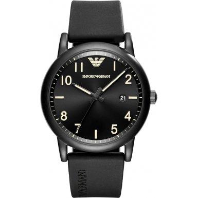 Emporio Armani Herren-Armbanduhr Quarz One Size, schwarz, schwarz
