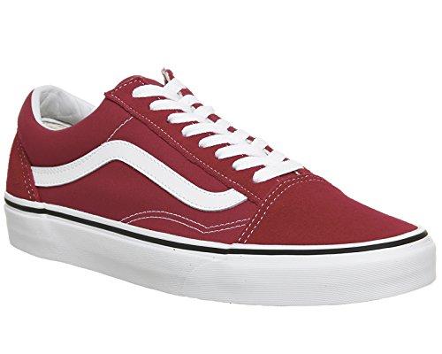 Vans Old Skool, Chaussures de Running Mixte Adulte Rouge (Crimson/true White Q9u)