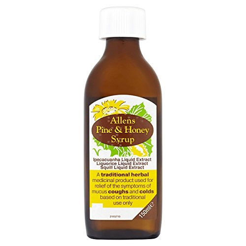 Allens Pine & Honey Syrup 150ml (Pack of 6 x 150ml)