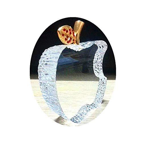 Fghjih Crystal Apple Briefbeschwerer Pretty Craft Art & Collection Geschenke Weihnachten Home Decoration Hochzeit Tisch/Auto Ornamente Kunsthandwerk