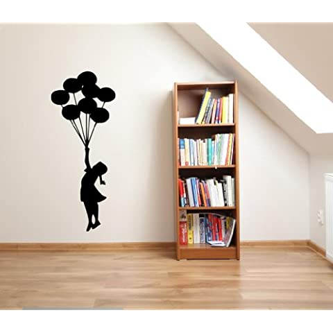 Banksy Floating Balloons Graffiti decalcomania della parete