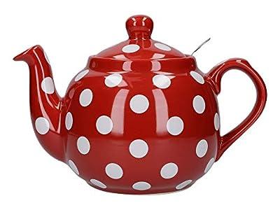 London Pottery 78466 Farmhouse Théière avec infuseur en céramique Motif pois