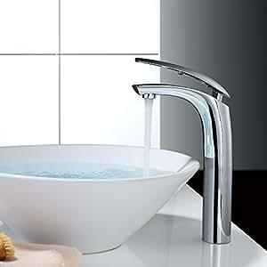 Homelody miscelatore bagno alto rubinetto bagno lavabo alto monocomando per lavabo e bagno acqua - Rubinetto bagno alto ...