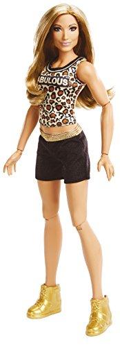 Mattel FTD84 WWE Girls Superstar Carmella 30 cm Puppe, Mädchen Puppen Spielzeug ab 6 Jahren