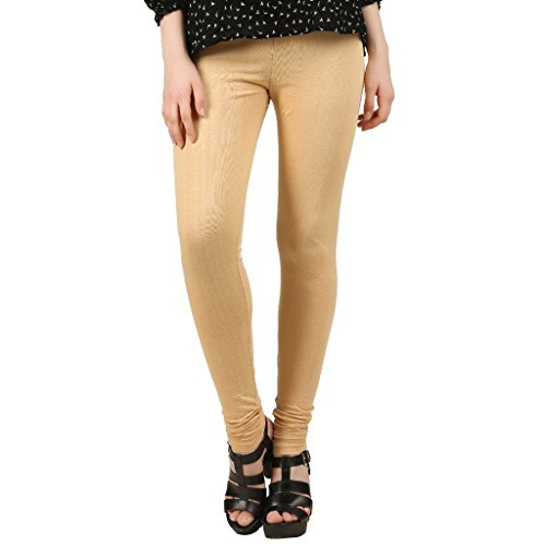 Hotfits Women's Cotton Premium Churidar Leggings-Beige-XL