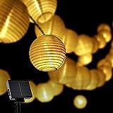 Opard Solar LED Lichterketten Lampions LED 6m 30 Laterne IP65 Wasserdicht für Garten, Hof, Party, Balkon, Hochzeit, Außen,...