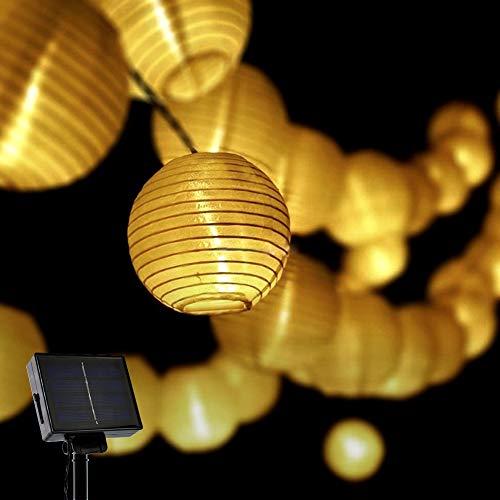 Opard Solar LED Lichterketten Lampions LED 6m 30 Laterne IP65 Wasserdicht für Garten, Hof, Party, Balkon, Hochzeit, Außen, Fest Deko(Warmweiß) (Led-party-laterne)
