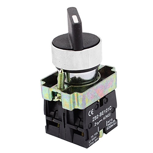 22 mm óxido 2 NO Tres 3-posición Interruptor Selector