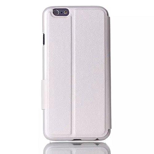 """inShang Hülle für Apple iphone 6 4.7 inch iPhone6 4.7"""", Edles PU Leder Tasche Hülle Skins Etui Schutzhülle Ständer Smart Case Cover für iphone 6 Cell Phone, Handy , Zubehör + inShang Logo hochwertigen line white"""