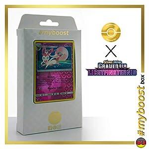 Feelinara (Sylveon) 87/131 Holo Reverse - #myboost X Sonne & Mond 6 Grauen Der Lichtfinsternis - Box de 10 Cartas Pokémon Aleman