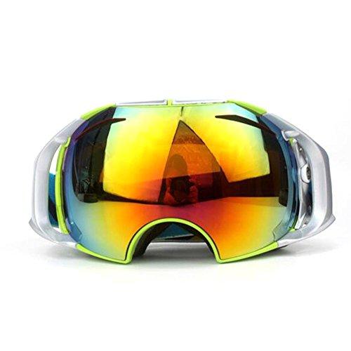 JT Outdoor Skifahren Motorrad Gläser Anti Fog Gläser Nut Doppel Deck Brillenlinse Mode Sphärische Okular, green, j5