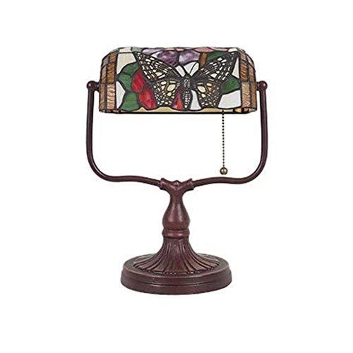 Vintage Tischlampe Haushaltswaren Art Deco Bronze Butterfly Tiffany Banker Lampe - Tiffany Bronze Lampe