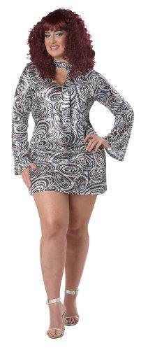 Disco Fancy Divas Dress Kostüm - Unbekannt Aptafêtes-cs968945/XL-Kostüm Diva Disco-Größe XL