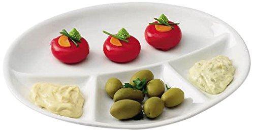 Tognana Assiette à Compartiments, 28 x 24 cm, Blanche