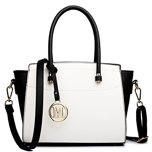 Miss Lulu, Borsa a spalla donna medium Black & White