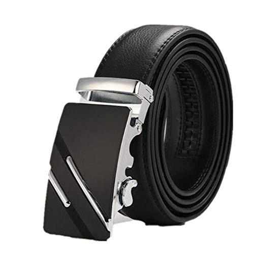 aoliaoyudonggha 2019 New Leather Belts For Men Male Luxury Brand Jeans Automatic Ratchet Buckle Ken Onion 8