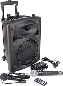 sonido: Ibiza PORT8VHF-BT - Sistema de sonido portátil y autónomo, 400 W, color negro