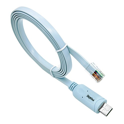 USB-Konsole-Kabel mit FTDI Chip 1,8m (6ft) ersetzt RS232(DB9/DB25) zu RJ45Für Laptop und PC in Windows, Vista, Mac, Linux (blau)