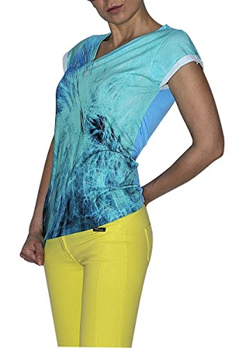 BORDERLINE by Denis Palbiani - T-Shirt da Donna, Stampa ARROW (42 M IT Donna)