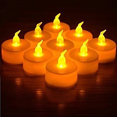 Wayme 12 x LED TEA LIGHT CANDLES TEALIGHT TEA LIGHTS WITH FREE BATTERIES by Wayme