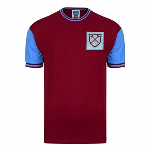 b52685fcd1fd1 West Ham United FC Camiseta Réplica 1966 Oficial de Para Hombre (Mediana (M)