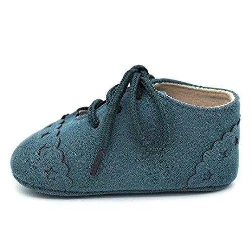 nd Schuhe Sneaker Anti Rutsch Soft Sole Schnürschuhe (11, Grün) (Grünen Tuch Elf Schuhe)