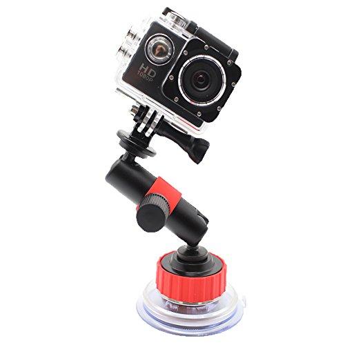 Homeet Saugnapf Halterung Action Kamera Zubehör Suction Cup Mount Auto Scheibenhalterung Stativzubehör für Canon Nikon Panasonic Olympus SJCAM Sony HDR FDR Garmin Virb (Suction-cup-mount-kamera)