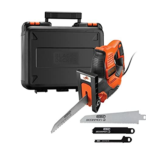 BLACK+DECKER RS890K-GB Scorpion-Powered Hand Saw with Kitbox and Auto-Select, 500 W