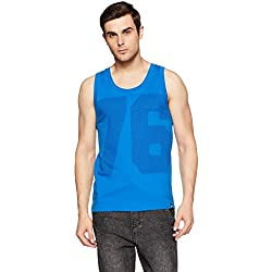 Jockey Men's Cotton Tank Top (8901326134566_9928_Medium_Neon Blue)