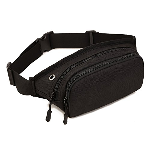 Imagen de louvra riñonera  de cintura bandolera cinturón táctical molle militar para camping, trekking, senderismo, etc, color negro alternativa