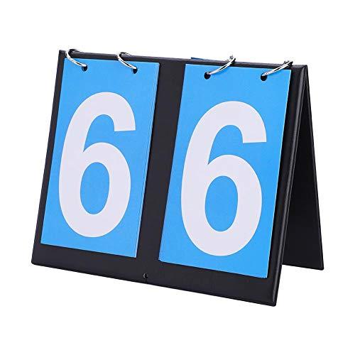 Dwawoo 2/3/4 Digit Portable Flip Sport Anzeigetafel, Portable Table Top Scoreboard Ergebnis Flipper 0-99 Multifunktionsanzeiger für Tischtennis, Basketball(2 Digit)