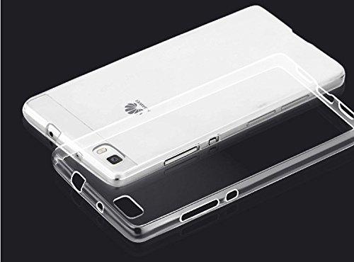 Huawei P8 Lite Custodia , MENGGOOD TPU Custodia protettivo morbido Caso Trasparente Copertura Cristallo Protezione Silicio Cover per Huawei P8 Lite - Antigraffio Bumper Fondello protettore completa