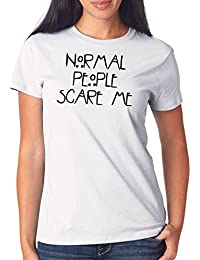 Normal People Scare Me T-Shirt Girls Blanco