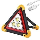 LEDGLE Campinglampe Tragbar, LED Wiederaufladbare Arbeitsleuchte, Suchscheinwerfer mit 30W 1000 Lumen Warnleuchte, Außenleuchte mit 4 Leuchtmodi für Garage, Autoreparatur, Camping, Notfall