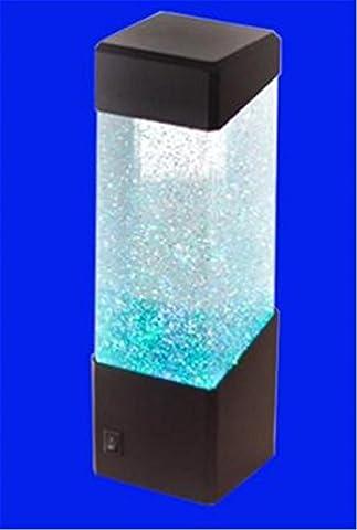 YANFEI 1L USB Desktop Mini Eco Affichage Goldfish filtre de puissance interne Acrylique éclairage LED Fish Tank de bureau , blue
