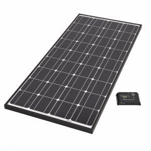 Biard 100W Black Frame Solar PV Panel With 10 Amp Charge Controller - Ideal for 12V Battery Charging