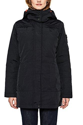 Esprit 097ee1g025, Manteau Femme, Noir (Black 001), X-Large