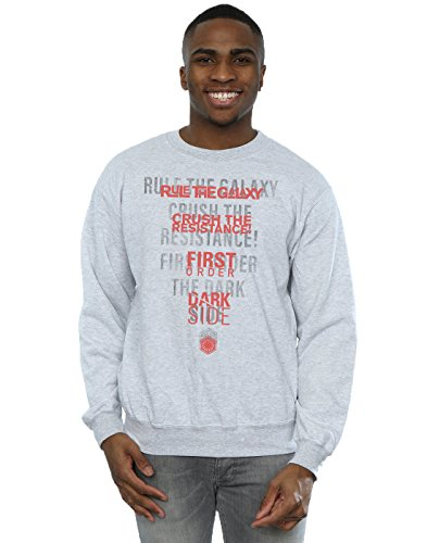 Last Jedi Dark Side Echo Sweatshirt Large Sport Grey (Echo Pullover Männer)