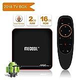 mecool M8S Pro TV Box mit Stimme Fernbedienung Android 7.1.2Amlogic s905W cortex-a532G + 16G Glatte und HD 4K Internet Media Spieler mit HDMI Kabel 2USB-Port und WiFi Unterstützung