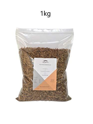 KutuKutu Mehlwürmer getrocknet 1kg - Reptilienfutter, Nagerfutter, Vogelfutter, Mehlwürmer, Koifutter, Fischfutter -