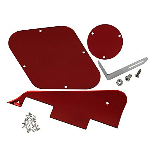 ikn-1-set-pickguard-cavity-switch-cover-supporto-viti-per-chitarra-lp-style-1-ply-red-mirror