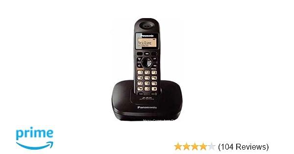 Panasonic kx tg3615 cordless phone black amazon electronics fandeluxe Images
