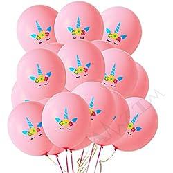 AMZTM 30 Stück Einhorn Rosa Luftballons Regenbogen Einhorn-Themenparty Begünstigt Dekorationen für Mädchen Baby Dusche Geburtstags-Party-Hochzeits-Versorgungsmaterialien (12 Zoll)