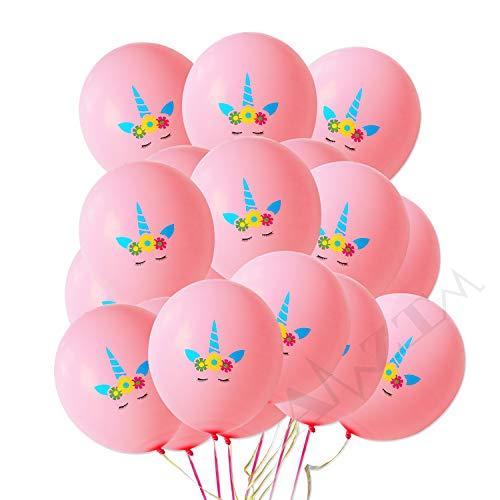 AMZTM 30 Stück Einhorn Luftballons Regenbogen Einhorn-Themenparty Begünstigt Dekorationen für Nette Fantasie-feenhafte Mädchen Baby Dusche Geburtstags-Party-Hochzeits-Versorgungsmaterialien (Rosa)