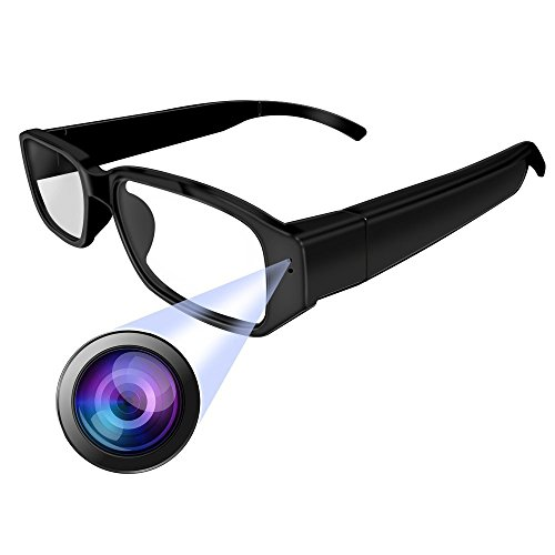 Versteckte Spion Kamera Mini (Brille mit Kamera Full HD 1080P OMOUP 16GB Spy Glasses 1920x1080P Spion Kamera Brille,Versteckte Kamera Brille Mini DVR DV Camcorder)