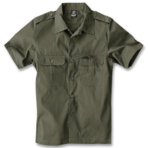 Heiße Kostüm Feuerwehr - Brandit US Hemd Kurzarm Oliv - XXL