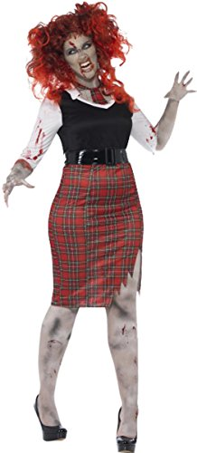 Damen Fancy Scary Halloween Party Kleid Kurven Zombie School Girl - Scary School Girl Kostüm