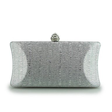 pwne Frauen Abend Tasche Pu-Frühling/Herbst Alle Jahreszeiten Hochzeit Event / Party Casual Formal Outdoor Büro & Amp; Karriere Klappe Metall Kette Verschluss Lockwine Silver