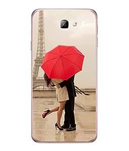 PrintVisa Designer Back Case Cover for Samsung Galaxy J7 Prime (2016) ( Woman Man Light Nature Love Romance Wallpaper Hug )